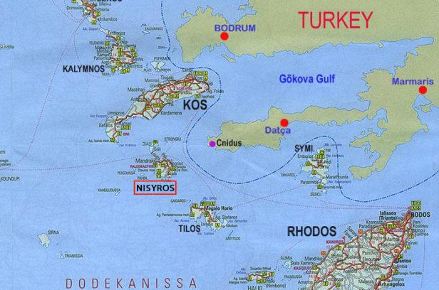 Нисирос на карте