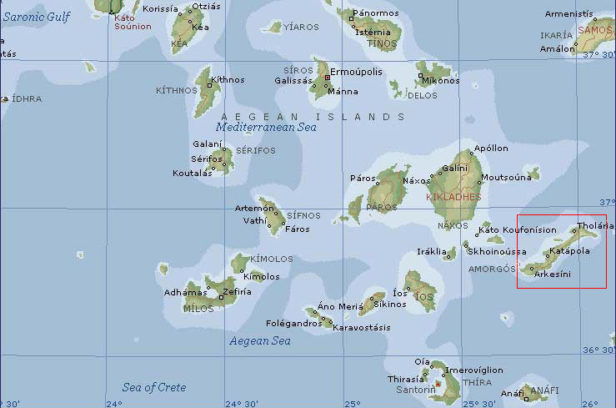 Киклады карта