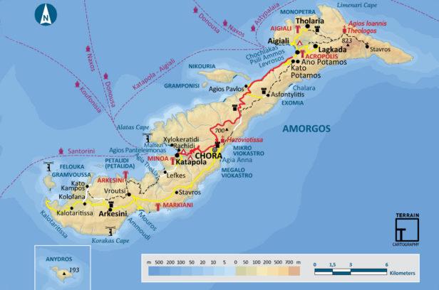 Карта Аморгоса
