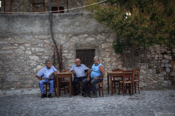 Остров Хиос, Греция. Горная деревня Авгонима